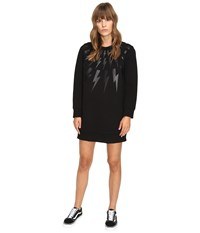 Neil Barrett Lightning Long Fairsle Sweatshirt Black Women's Sweatshirt