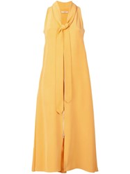 Edun Neck Tie Dress Yellow And Orange