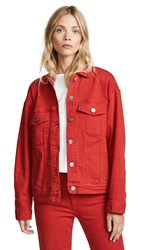 3X1 Oversized Classic Jacket Apple Red