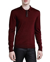 The Kooples Collared Sweater Burgundy