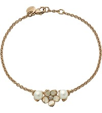Shaun Leane Cherry Blossom Rose Gold Vermeil Ivory Enamel Pearl And Diamond Single Flower Bracelet