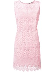 Ermanno Scervino Embroidered Sleeveless Dress Pink And Purple