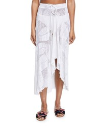 Letarte Palm Lace Coverup Skirt White