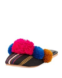Figue Ashbury Pompom Mule Slide Multi
