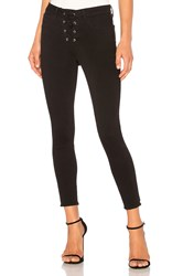 L'agence The Cherie Lace Up Skinny Black