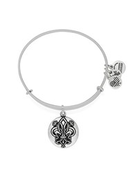 Alex And Ani Fleur De Lis Charm Bangle Silver