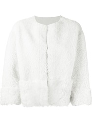 Sword Shearling Jacket White