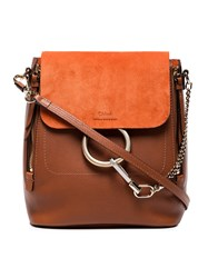 Chloe Brown Faye Leather Backpack