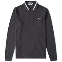 Fred Perry Reissues Long Sleeve Single Tipped Polo Grey