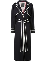 Loveless Contrast Trim Coat Blue