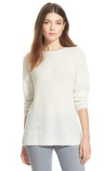 Chelsea 28 Women's Chelsea28 Sequin Rib Knit Sweater White Snow