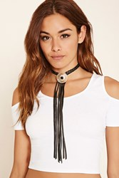 Forever 21 Ettika Leather Tassel Necklace