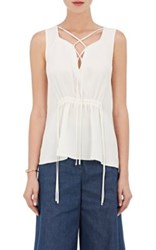 Derek Lam Women's Sleeveless Silk Blouse White