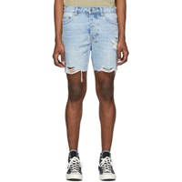 Ksubi Blue Denim Dagger Dank Karma Shorts