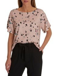 Betty And Co. Flying Bird Top Rose Black