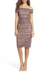 Adrianna Papell Women's Off The Shoulder Lace Dress