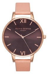 Women's Olivia Burton 'Big Dial' Leather Strap Watch 38Mm