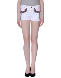 April May Denim Bermudas White