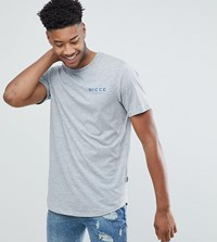Nicce London Tall T Shirt In Grey With Chest Logo Grey