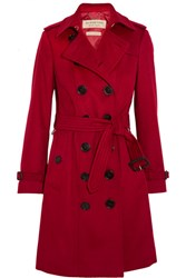 Burberry London The Sandringham Cashmere Trench Coat Red