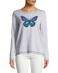 Lisa Todd Butterfly Pullover Sweater W Contrast Stitching Plus Size Heather