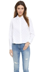 Band Of Outsiders Cannes Dot Blouse White