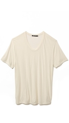 Alexander Wang Slub Low Neck T Shirt