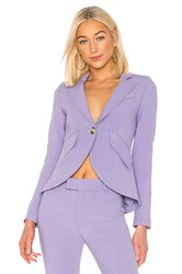Smythe One Button Blazer Lavender