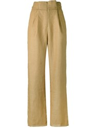 Cherevichkiotvichki Tailored Trousers Women Linen Flax Xs Brown