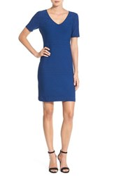 Julia Jordan Women's 'Rio' Jacquard Knit Sheath Dress Atlantic