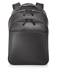 Montblanc Embossed Leather Backpack Gray