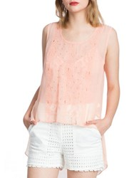 Plenty By Tracy Reese Embroidered Effect Top Bellini