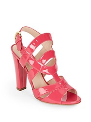 Sergio Rossi Patent Leather Sandals Bright Pink