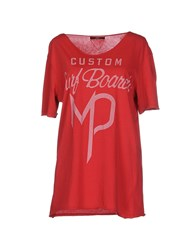 Meltin Pot Topwear T Shirts Women Red