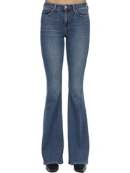 L'agence Bellhigh Rise Flared Cotton Denim Jeans Light Blue
