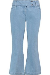 Michael Kors Mid Rise Flared Jeans Sky Blue