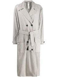Giorgio Brato Double Breasted Trench Coat Grey