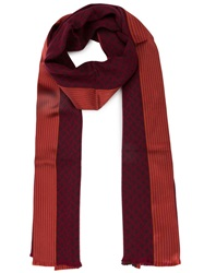 Haider Ackermann Mixed Print Scarf Red