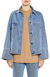 Topshop Women's Boutique Deep Cuff Denim Jacket