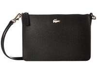 Lacoste Chantaco Double Pocket Zip Crossover Black Bags