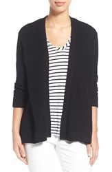 Women's Chaus Ribbed Open Front Cardigan Rich Black