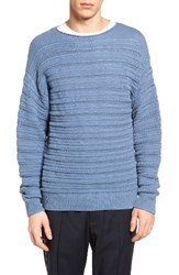 Vince Men's Ribbed Crewneck Sweater