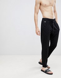 Lacoste Baseline Joggers With Cuffed Ankle In Regular Fit Black