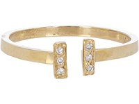 Loren Stewart Women's Pave Diamond And Gold Adjustable Ring No Color