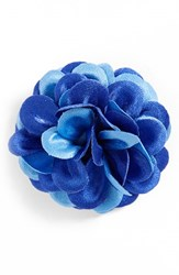 Men's Hook Albert Floral Lapel Pin Blue Tonal