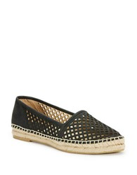 Frye Lee A Line Perforated Leather Espadrilles Black