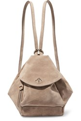 Manu Atelier Fernweh Mini Suede Backpack Mushroom