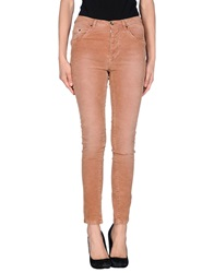 Paolo Pecora Donna Casual Pants Skin Color