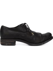 A Diciannoveventitre Distressed Lace Up Shoes Black