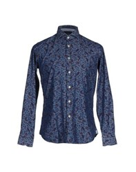 Ungaro Denim Denim Shirts Men Blue